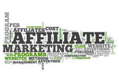 Word Cloud Affiliate Marketing — Stock Photo