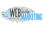 Word Cloud Web Marketing — Stock Photo