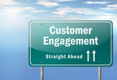Highway Signpost Customer Engagement — Stock Photo