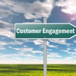 图库照片: Signpost Customer Engagement