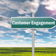 Signpost Customer Engagement — Stock Photo #38202325