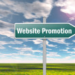 Signpost Website Promotion — Stock Photo