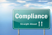 Highway Signpost Compliance — Stock Photo
