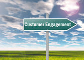 Signpost Customer Engagement — Stock Photo