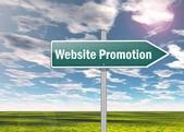 Signpost Website Promotion — Foto de Stock