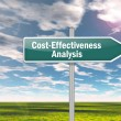Stock Photo: Signpost Cost-Effectiveness Analysis