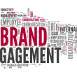 Foto Stock: Word Cloud Brand Engagement