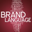 Word Cloud Brand Language — Stock Photo #38603971