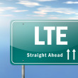 Highway Signpost LTE — Stock Photo #38604165