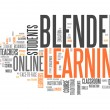 Stock Photo: Word Cloud Blended Learning