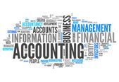 Word Cloud Accounting — Stock Photo