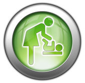 Icon, Button, Pictogram Baby Change — Stock Photo