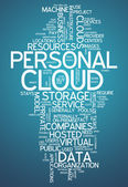 Word Cloud Personal Cloud — Stockfoto