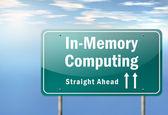 Highway Signpost In-Memory Computing — Stock Photo