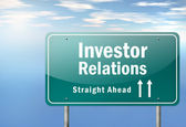 Highway Signpost Investor Relations — Stock Photo