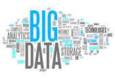 Word Cloud Big Data — Stock Photo