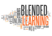 Word Cloud Blended Learning — Stock Photo