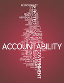 Word Cloud Accountability — Stock Photo