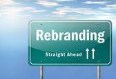 Highway Signpost Rebranding — Stock Photo