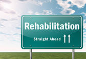 Highway Signpost Rehabilitation — Stock Photo