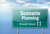 Highway Signpost Scenario Planning — Stock Photo