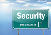 Highway Signpost Security — Stok fotoğraf