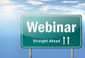 Highway Signpost Webinar — Stock Photo