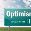 Highway Signpost Optimism — Stock Photo