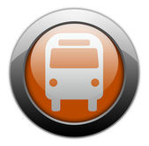 Icon, Button, Pictogram with Bus, Ground Transportation symbol — Stock Photo