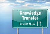 Highway Signpost Knowledge Transfer — Stock Photo