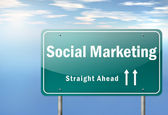 Highway Signpost Social Marketing — Stock Photo