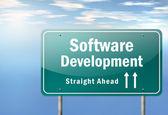 Highway Signpost Software Development — Stock Photo