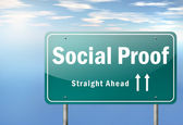 Highway Signpost Social Proof — Stock Photo