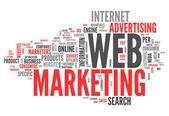 Word Cloud Web Marketing — Stock Photo