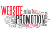 Word Cloud Website Promotion — Stock Photo
