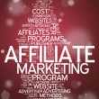 Word Cloud Affiliate Marketing — Stock Photo #38783187