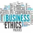 Stock Photo: Word Cloud Business Ethics