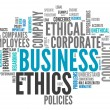 Word Cloud Business Ethics — Stock Photo #38783291