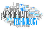 Word Cloud Appropriate Technology — Stock Photo
