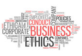Word Cloud Business Ethics — Photo