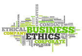 Word Cloud Business Ethics — Stock Photo