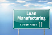 Highway Signpost Lean Manufacturing — Stock Photo