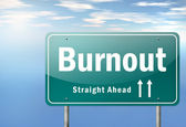 Highway Signpost Burnout — Stock Photo