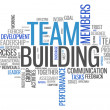 Word Cloud Team Building — Stock Photo #38821341