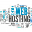 Word Cloud Web Hosting — Stock Photo #38821437