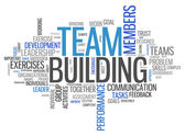 Word Cloud Team Building — Stock Photo