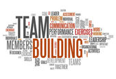 Word Cloud Team Building — Foto Stock