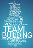 Word Cloud Team Building — Stock Photo