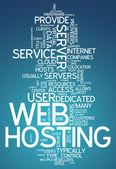 Word Cloud Web Hosting — Stock Photo