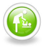 Icon, Button, Pictogram Baby Change — Stock Photo